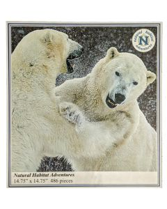 "Limited Edition Nat Hab ""Sparring Polar Bears"" Custom Puzzle"